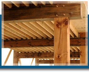 Oak framework and trusses